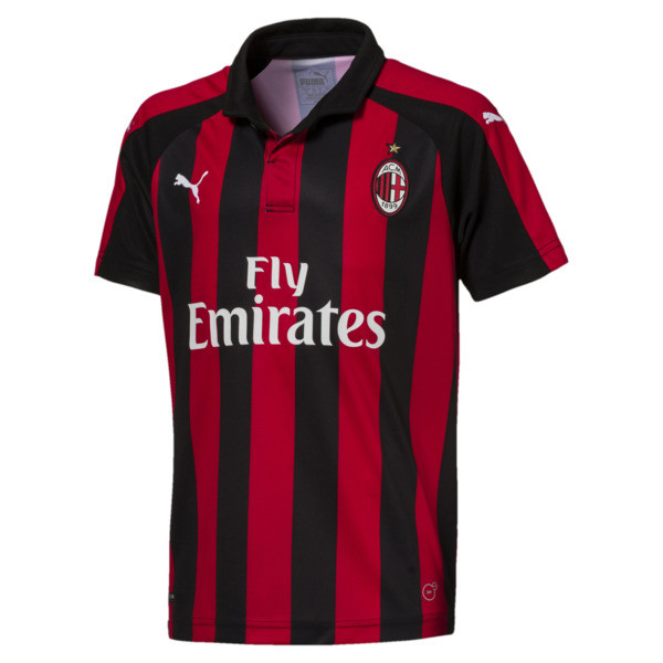 AC Milan Kids' Home Replica Jersey, Tango Red-Puma Black, large