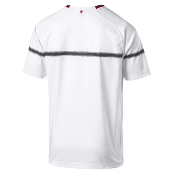 AC Milan Men's Replica Away Jersey, Puma White-Tango Red, large