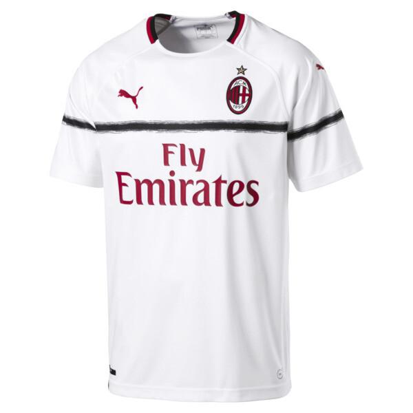 AC Milan Men's Replica Away Jersey, Puma White-Tango Red, large