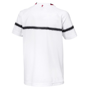 Thumbnail 2 of AC Milan Kids' Away Replica Jersey, Puma White-Tango Red, medium