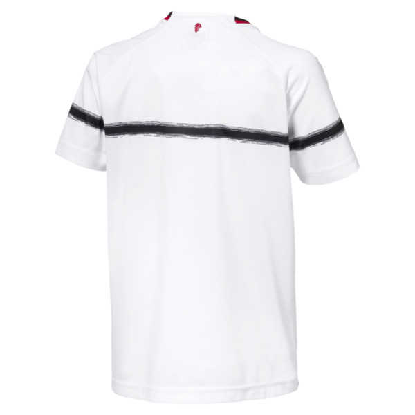 AC Milan Kids' Away Replica Jersey, Puma White-Tango Red, large