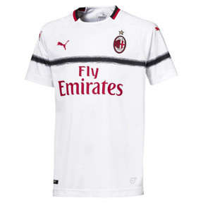 Thumbnail 1 of AC Milan Kids' Away Replica Jersey, Puma White-Tango Red, medium