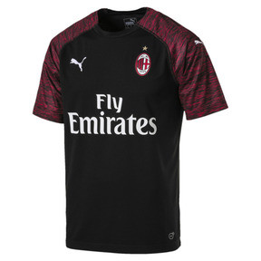 Thumbnail 4 of AC Milan Men's Replica Third Shirt, Puma Black-Tango Red, medium