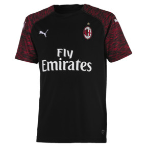 Thumbnail 1 of AC Milan Kids' Third Replica Jersey, Puma Black-Tango Red, medium
