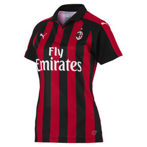 Thumbnail 4 of AC Milan Women's Home Replica Jersey, Tango Red-Puma Black, medium