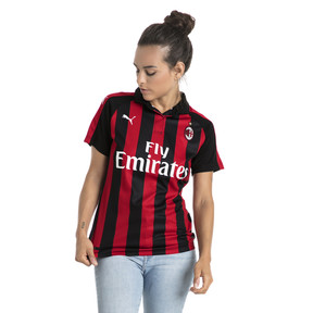 Thumbnail 1 of AC Milan Women's Home Replica Jersey, Tango Red-Puma Black, medium