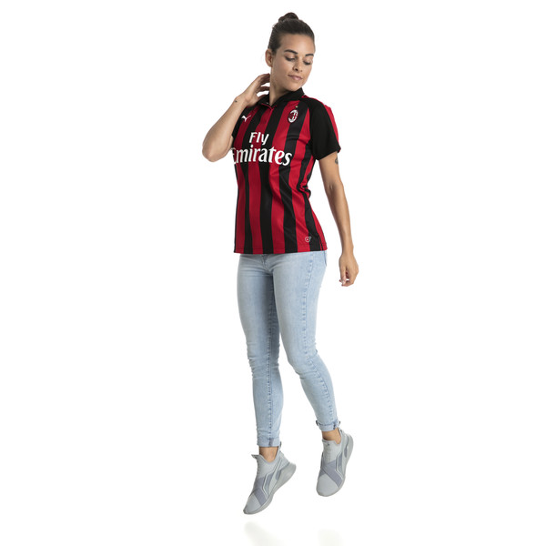 AC Milan Women's Home Replica Jersey, Tango Red-Puma Black, large