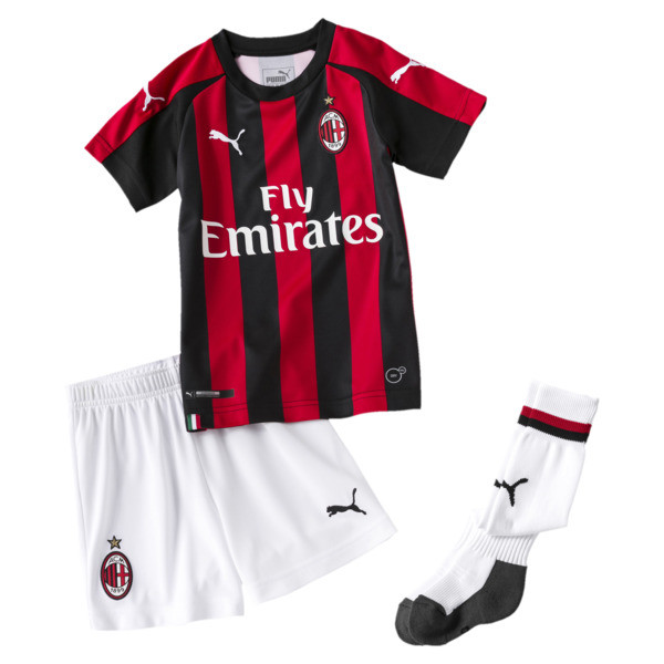 AC Milan Kids' Home Minikit, Tango Red-Puma Black, large