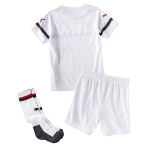 Thumbnail 2 of AC Milan Kids' Away Minikit, Puma White-Tango Red, medium