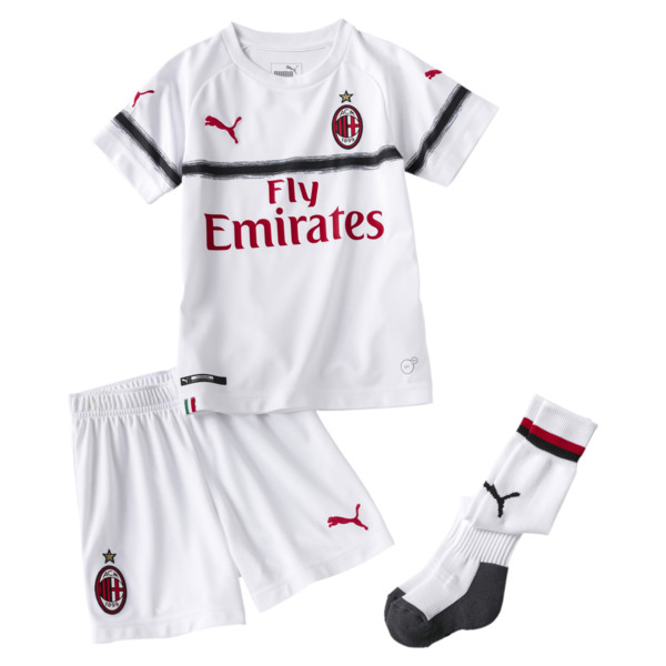 AC Milan Kids' Away Minikit, Puma White-Tango Red, large