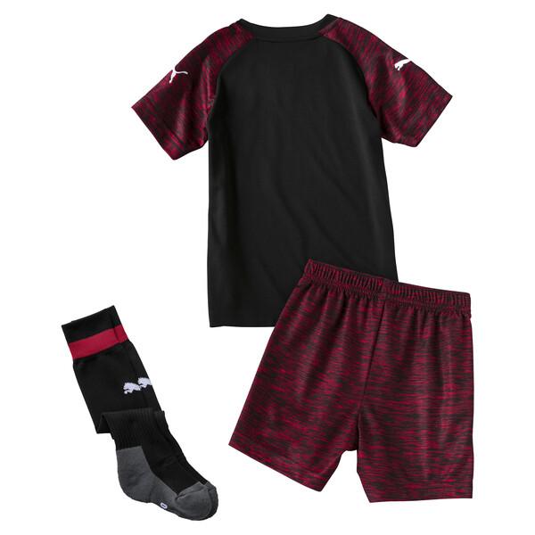 Mini set troisième tenue AC Milan pour enfant, Puma Black-Tango Red, large