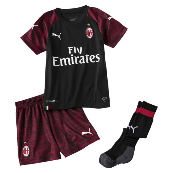 AC Milan Kids' Third Minikit, Puma Black-Tango Red, large