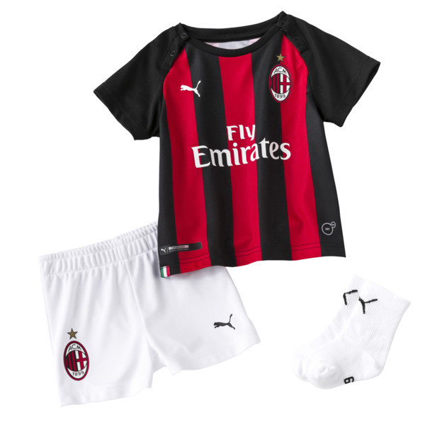 AC Milan Home Baby Kit, tango red-Puma Black, large