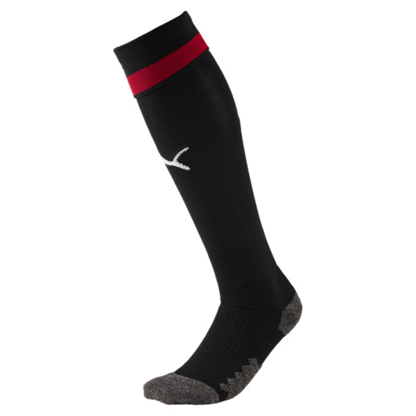 AC Milan Men's Socks, Puma Black-Tango Red, large