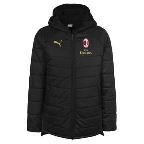 Thumbnail 1 of AC Milan Men's Bench Jacket, Puma Black-Victory Gold, medium