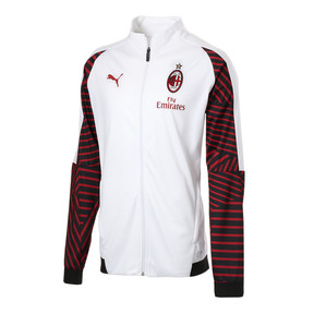 Thumbnail 1 of AC MILAN スタジアムジャケット, Puma White-Chili Pepper, medium-JPN