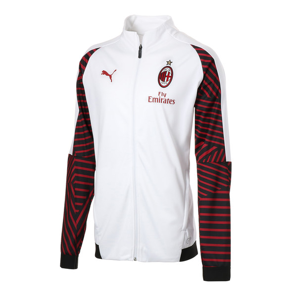 AC MILAN スタジアムジャケット, Puma White-Chili Pepper, large-JPN