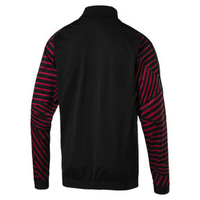 Thumbnail 5 of AC Milan Men's Stadium Jacket, Puma Black-Chili Pepper, medium