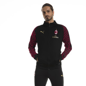 Thumbnail 1 of AC Milan Men's Stadium Jacket, Puma Black-Chili Pepper, medium