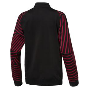 Thumbnail 2 of AC Milan Kids' Stadium Jacket, Puma Black-Chili Pepper, medium
