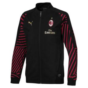 Thumbnail 1 of AC Milan Kids' Stadium Jacket, Puma Black-Chili Pepper, medium