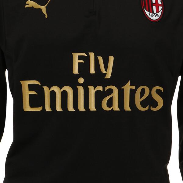 AC MILAN 1/4 ジップトップ, Puma Black-Victory Gold, large-JPN