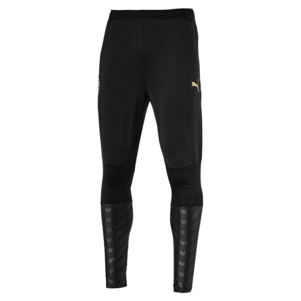 AC Milan Men's Pro Training Pants, Puma Black-Victory Gold, large