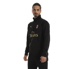 Thumbnail 1 of AC Milan Men's Training Fleece Sweater, Puma Black-Victory Gold, medium