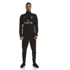 Thumbnail 3 of AC Milan Men's Training Fleece Sweater, Puma Black-Victory Gold, medium