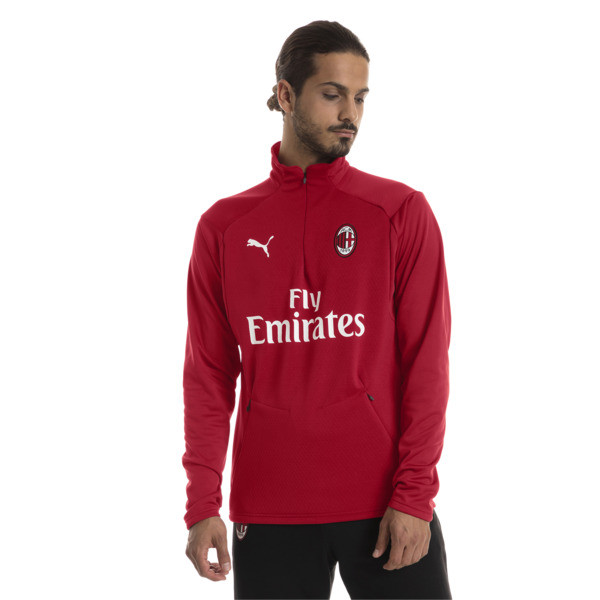 Sweat pour l'entraînement AC Milan Fleece pour homme, Chili Pepper-Puma White, large