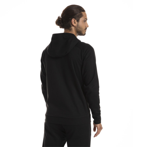 AC Milan Men's Casual Performance Hooded Jacket, Puma Black-Puma White, large