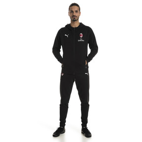 Thumbnail 3 of AC Milan Men's Casual Performance Hooded Jacket, Puma Black-Puma White, medium