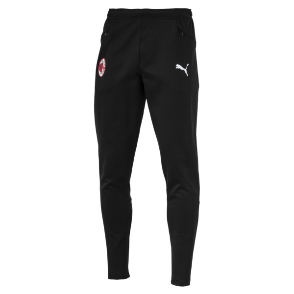AC Milan Men's Casual Performance Sweatpants, Puma Black-Puma White, large