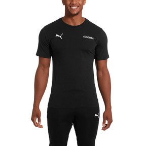 Thumbnail 2 of Copa America Men's Cotton Tee, Puma Black-Colombia, medium