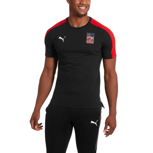 Copa America Men's T7 Tee, Puma Black-USA, large