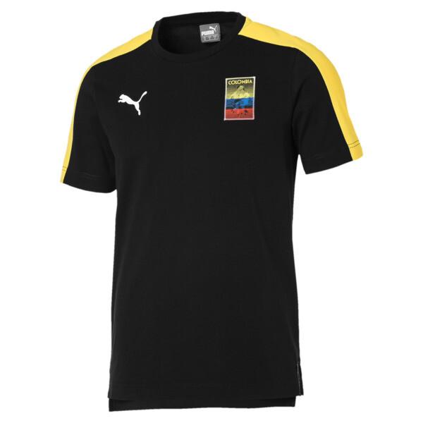 Copa America Men's T7 Tee, Puma Black-Colombia, large