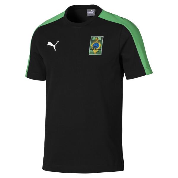 Copa America Men's T7 Tee, Puma Black-Brazil, large