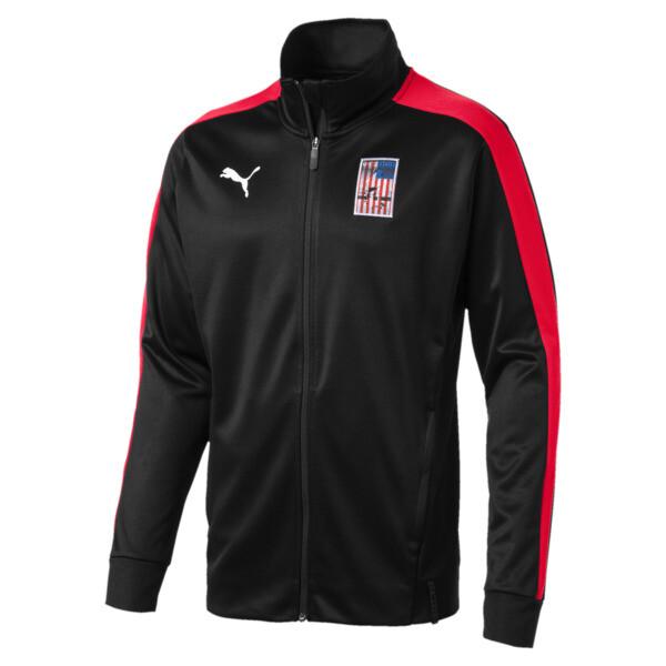 Copa America Men's T7 Track Jacket, Puma Black-Puma Red, large