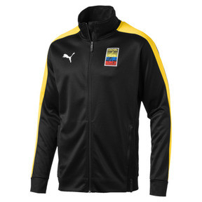 Thumbnail 2 of Copa America Men's T7 Track Jacket, Puma Black-Dandelion, medium