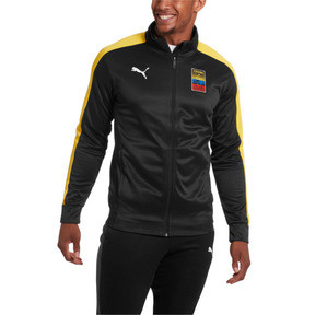 Thumbnail 1 of Copa America Men's T7 Track Jacket, Puma Black-Dandelion, medium