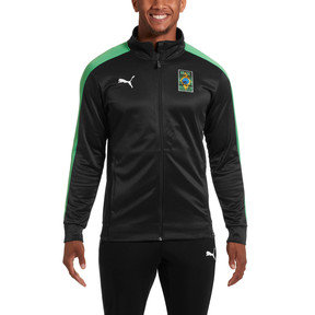 Thumbnail 1 of Copa America Men's T7 Track Jacket, Puma Black-Kelly Green, medium