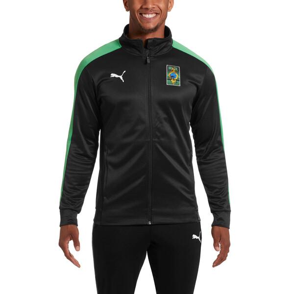 Copa America Men's T7 Track Jacket, Puma Black-Kelly Green, large