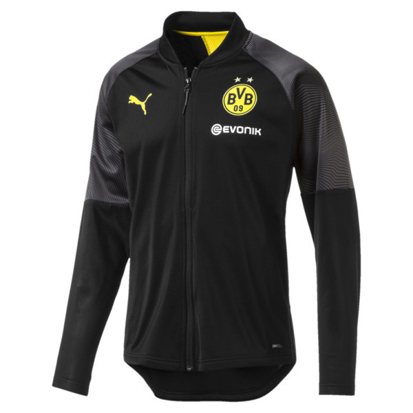 BVB Stadium Men's Poly Jacket, Puma Black, large