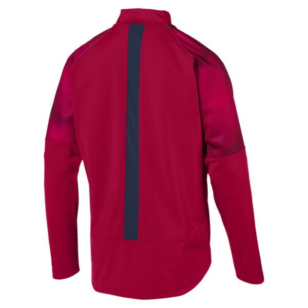 Arsenal FC Men's Stadium Jacket, Chili Pepper-Peacoat, large