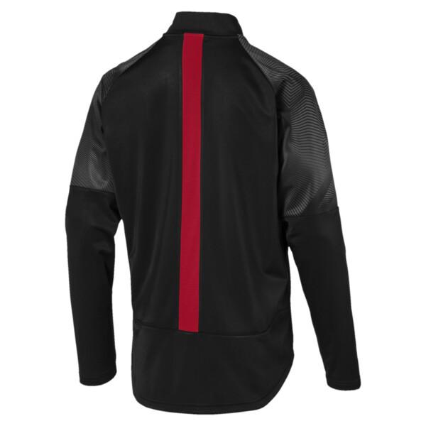 Arsenal FC Men's Stadium Jacket, Puma Black-Chili Pepper, large