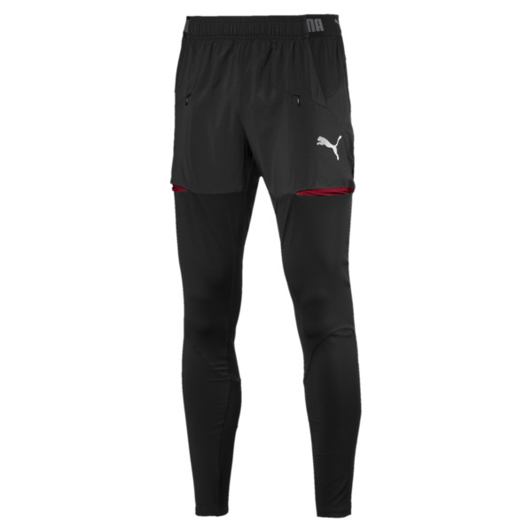AFC Stadium Pro Men's Football Pants, Puma Black-Chili Pepper, large
