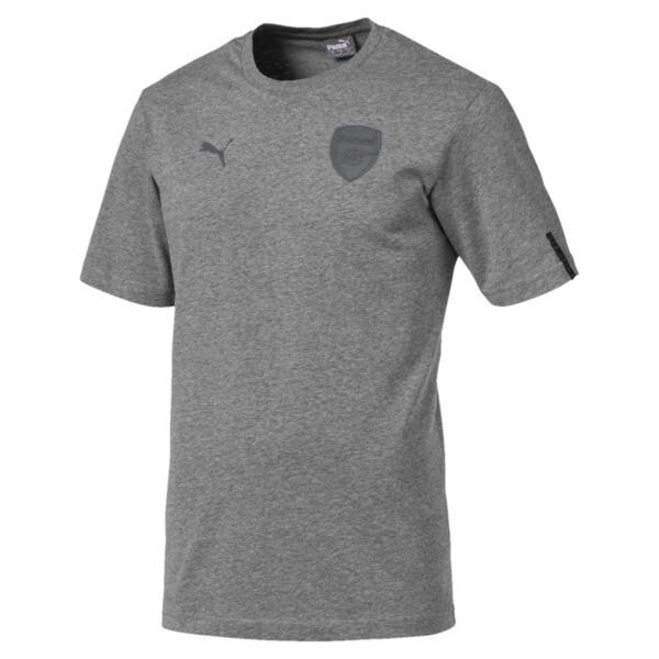 AFC Short Sleeve Men's Football Tee, Medium Gray Heather, large