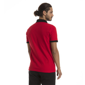 Thumbnail 3 of AC Milan Men's Badge Polo, Tango Red-Puma Black, medium