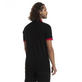 Thumbnail 2 of AC Milan Herren Wappen Polo, Puma Black-Tango Red, medium
