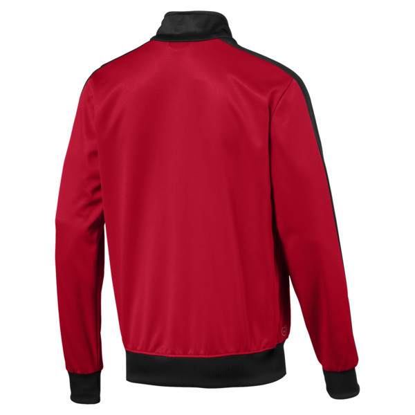 AC Milan Men's T7 Track Jacket, Tango Red-Puma Black, large